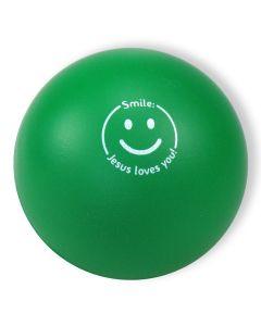"Softball ""Smile - Jesus loves you!"" - grün"