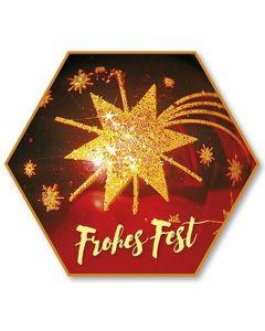 """Schafmilchseife Stern """"Frohes Fest"""""""