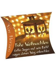 """Schafmilchseife Herz """"Frohe Weihnachten"""" (Laterne)"""