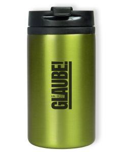 "Thermobecher ""Glaube! Mk 11,22"" - grün"