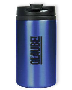 "Thermobecher ""Glaube! Mk 11,22"" - blau"