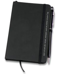 Geschenk-Set: Notizbuch und Kugelschreiber mit Touch-Pin