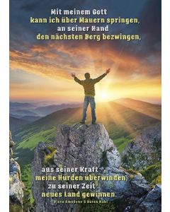 Postkarten: Mit meinem Gott, 4 Stück
