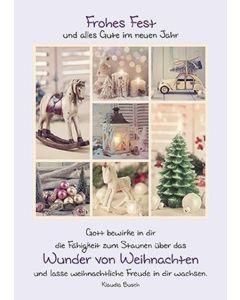 Postkarten: Frohes Fest, 4 Stück