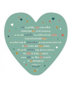 Dekoherz: Liebe ist geduldig, Liebe ist freundlich.