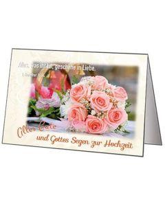 Faltkarten Hochzeit, 5 Stück