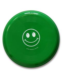 "Frisbee Smiley ""Gottes Liebe macht uns froh"" - grün"