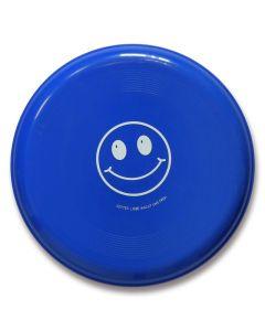 "Frisbee Smiley ""Gottes Liebe macht uns froh"" - blau"