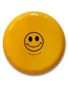 """Frisbee Smiley """"Gottes Liebe macht uns froh"""" - gelb"""