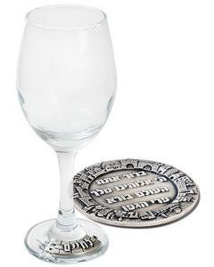 Kiddush - Glas mit Untersetzer