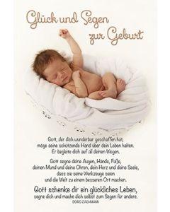 Faltkarte: Glück und Segen zur Geburt