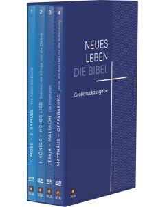 Neues Leben. Die Bibel, Großdruckausgabe in 4 Bänden