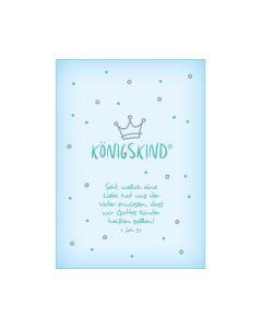 "Postkarte ""Königskind"" - Baby blau"