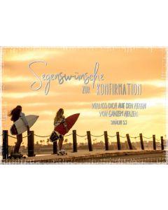 """Faltkarte """"Surfbretter"""" - Konfirmation"""