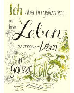 "Poster ""Leben in Fülle"" - A3"