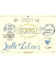 """Poster """"Wer Durst hat"""" - A3"""