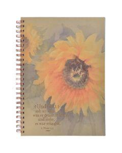 Notizblock - Sonnenblume