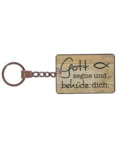 """Schlüsselanhänger Vintage """"Gott segne und behüte dich"""""""