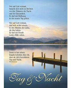 Postkarten: Wer auf Gott vertraut, 4 Stück