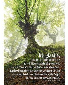 Postkarten: Ich glaube, dass uns Gott, 4 Stück