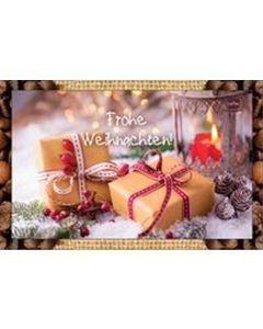 Kaffeekarte - Frohe Weihnachten!