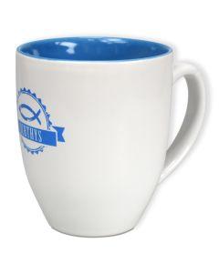 "Keramiktasse ""Ichthys"" - blau"