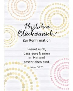 Faltkarte: Herzlichen Glückwunsch zur Konfirmation Motiv 1