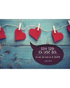 """Postkarten """"Gott sagt: Ich liebe dich."""" 4er-Serie"""