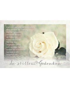 Faltkarte: Je schöner die Erinnerungen - Trauer
