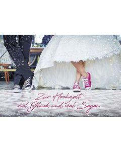 Faltkarte: Zur Hochzeit viel Glück und viel Segen