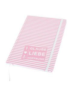 """Notizbuch """"Glaube, Liebe, Hoffnung"""""""