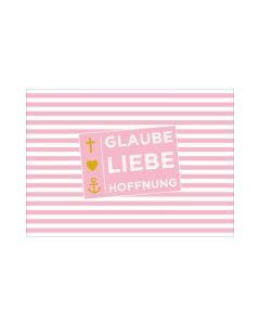"Postkarte ""Glaube, Liebe, Hoffnung"" - Konfirmation"