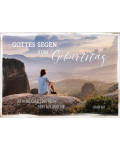 "Postkartenserie ""Frau auf Fels"" - 12 Stück"