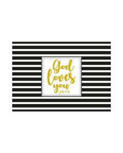 "Postkarte ""God loves you"" - Konfirmation"