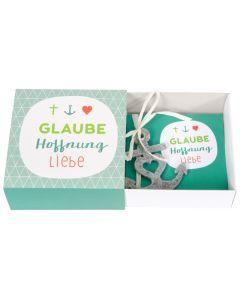 Geschenkschachtel - Glaube, Hoffnung, Liebe