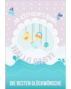 """Faltkarte """"Ente"""" - Geburt"""