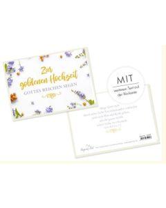 Faltkarte - Zur goldenen Hochzeit - Mut und Kraft