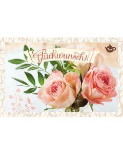 Tee-Postkarte - Glückwunsch!