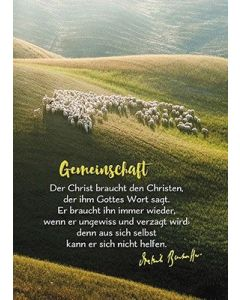 Postkarten: Der Christ braucht den Christ, 4 Stück