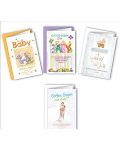 Faltkarten - Geburt 4er Set