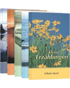 """Buchpaket Wilhelm Buschs """"Kleine Erzählungen"""" - 5 Bände"""
