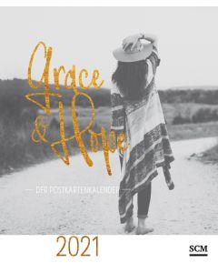 Grace & Hope 2021 - Postkartenkalender