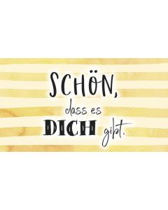 """Schokoladengrüße """"Schön, dass es DICH gibt"""" (40g)"""