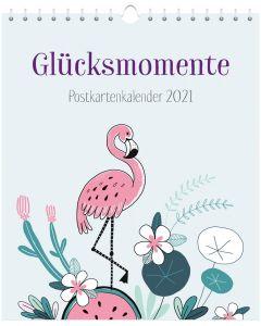 Glücksmomente 2021 - Postkartenkalender