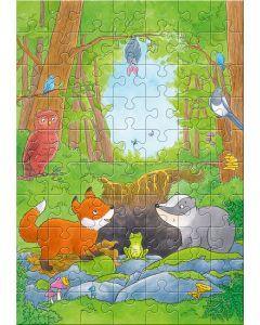 Puzzle - Fuchs und Dachs