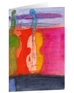 """Kunstkarten """"Leuchtende Geigen"""" - 5 Stk"""