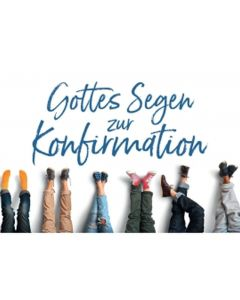 CD-Card: Gottes Segen zur Konfirmation - Motiv Füße