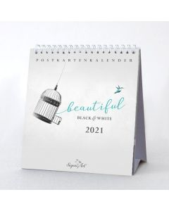 "Black&White ""Beautiful"" 2021 - Postkartenkalender"