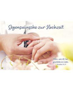 Faltkarte: Segenswünsche zur Hochzeit