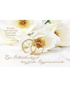 Faltkarte: Zur Silberhochzeit
